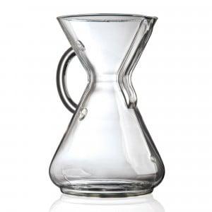 Chemex-Kaffeekaraffe - mit Glasgriff