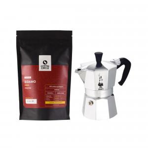 Moka Kanne & Kaffee im Set