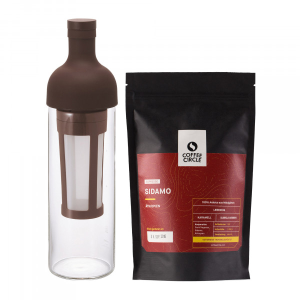 Hario Filter in Coffee Bottle & Kaffee im Set