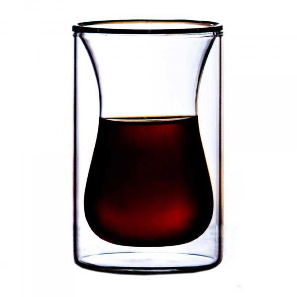 St. Anthony Plum Bottom Snifter doppelwandiges Kaffeeglas