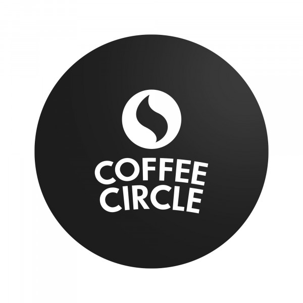 Coffee Circle Laptopsticker